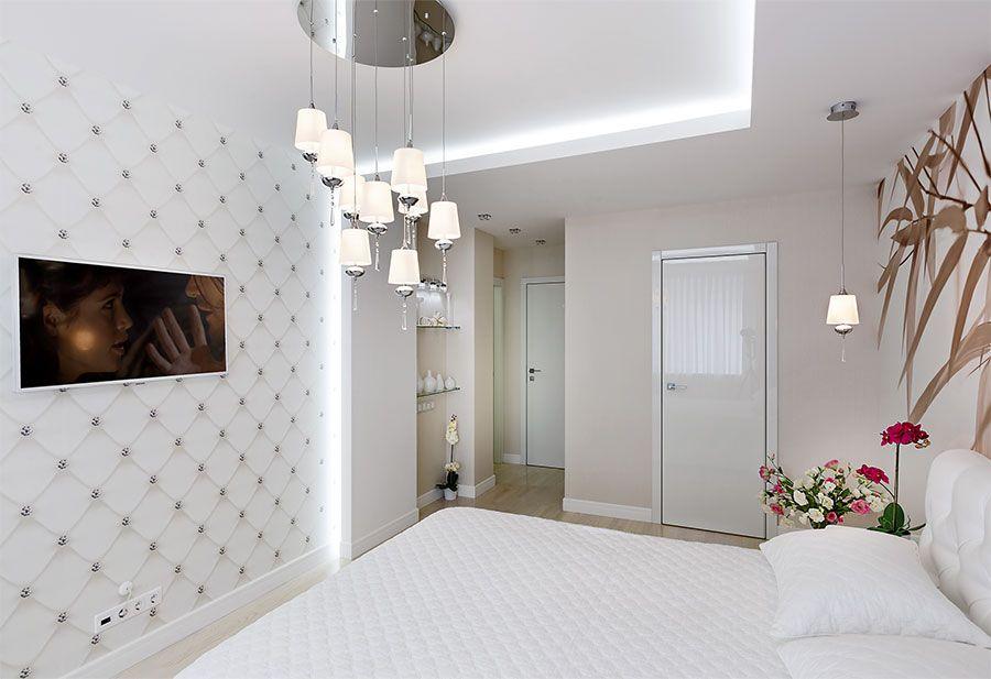 Дизайн проект спальни с гардеробной комнатой фото