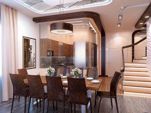 Дизайн кухни-столовой-гостиной: 45 фото дизайна в доме 867