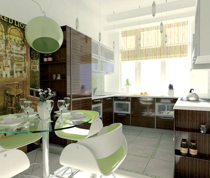 Дизайн квартир разделены на две зоны
