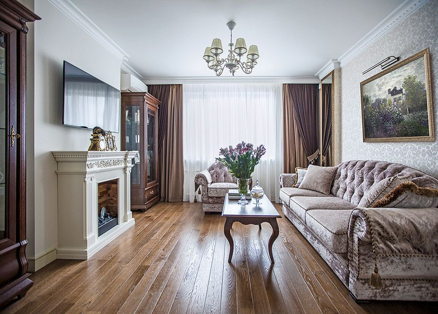 Дизайн квартиры в классическом стиле небольшой площади