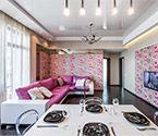 Интерьер гостиной-столовой-кухни