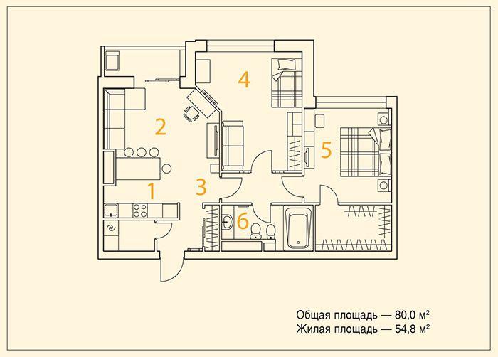 Дизайн квартиры с черновой отделкой